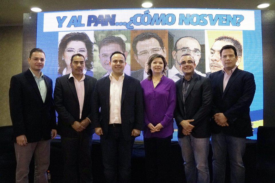 En el orden Juan Carlos Zuñiga, Juan Poom Medina, Leonardo Guillén Medina, Soledad Durazo, Luis Alberto Medina y Guillermo Noriega Esparza.